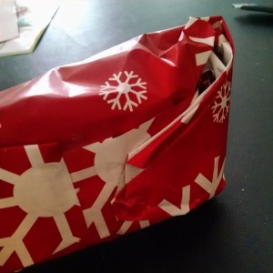 My mad wrapping skills.