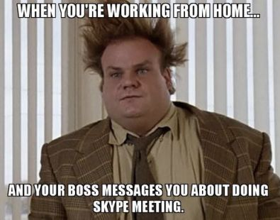 Chris Farley meme - Chris is wearing a suit and tie with his hair all messed up.